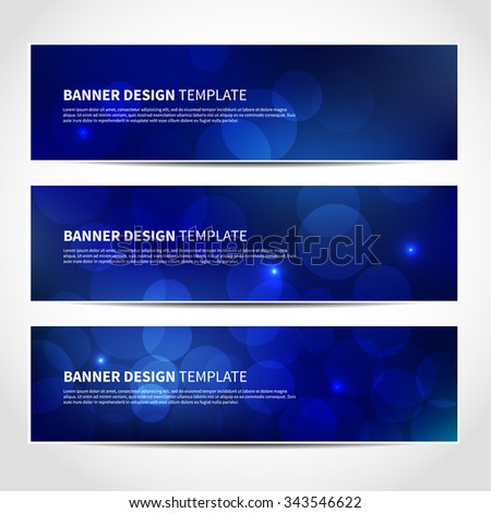 Set of trendy Christmas beige vector banners template or website headers with abstract geometric background. Vector design illustration EPS10 - stock vector