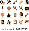Set of twenty computer's icons - stock vector