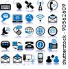 Set of twenty five communication icons - stock photo