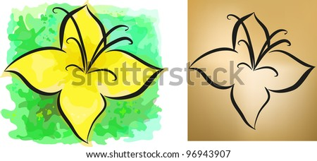 Set of two flower backgrounds. Eps 10