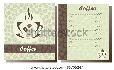 Set of two templates Coffee shop menu - stock vector