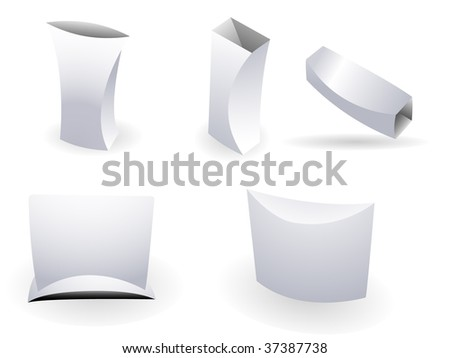 Set of ultra modern boxes for packaging purpose. Linear and radial gradients - stock vector