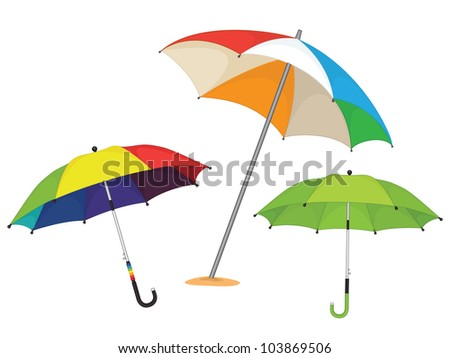 Set of umbrellas - stock vector