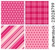 Set of Valentine Patterns - stock vector