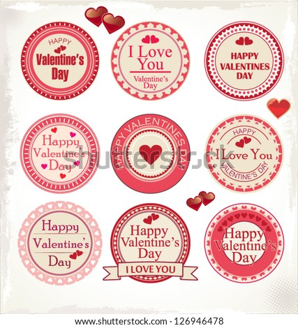 Set Valentines Day Love Labels Vector 126946478 Shutterstock – Valentine Day Label