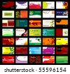 Set of various business cards. Jpeg version also available in gallery - stock vector