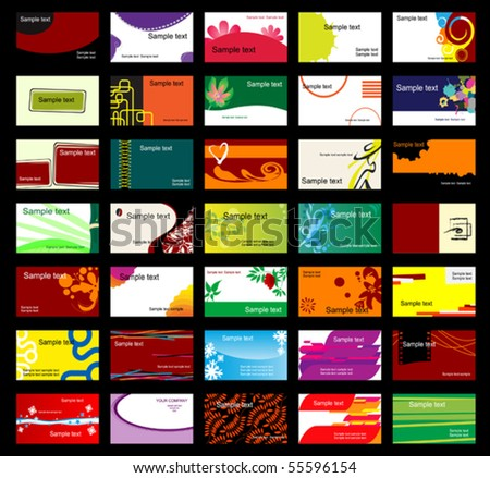 Set of various business cards. Jpeg version also available in gallery