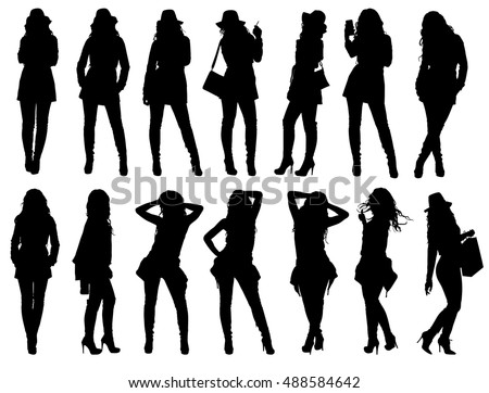 Female Silhouette Stock Images, Royalty-Free Images ...