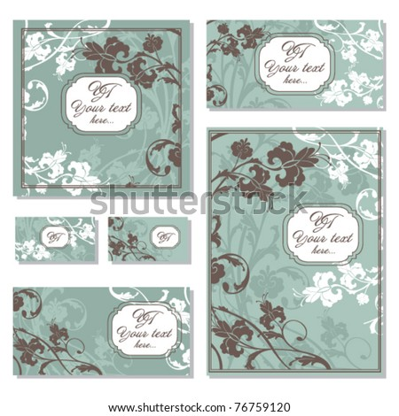 Set of various floral frames. Great for greeting card and invitations. - stock vector