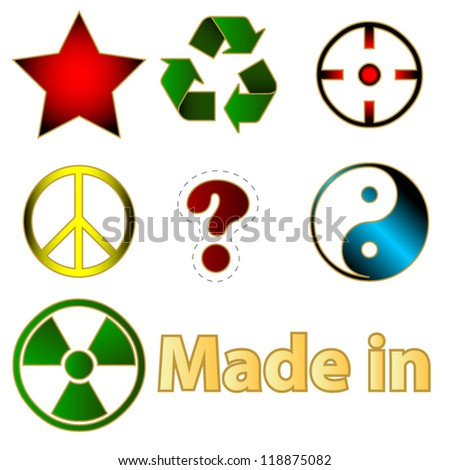 Set Various Icons On Hot Topics Stock Vector 118875082 Shutterstock