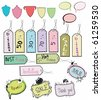 set of various tags and stickers - stock vector