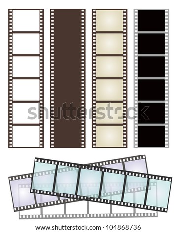 set of various types of film strips on white for Your design. vector illustration - stock vector