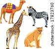 set of vector animals - stock vector