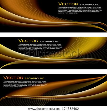 Set of Vector Backgrounds. Abstract Design.  - stock vector
