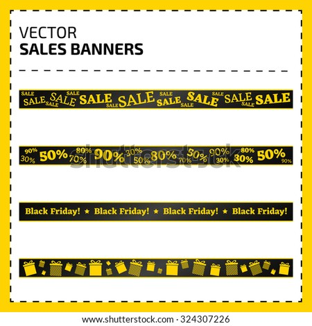 Set of vector banners for sale/Set of sale banners - stock vector