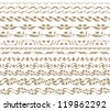 Set of vector borders,  decorative elements for design. Page decoration. - stock