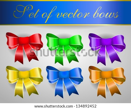 Set of vector bows