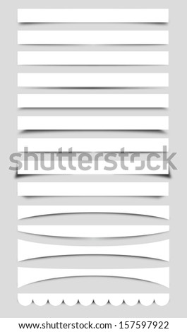 Set of Vector Box Shadows - stock vector