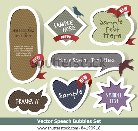Set of vector bubbles and flasher - stock vector