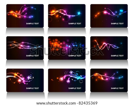 Set of vector business cards - stock vector