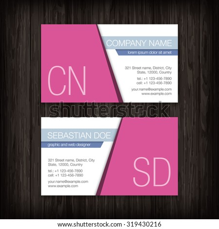 Set of vector business cards templates - stock vector