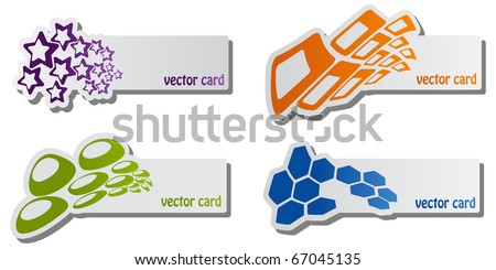 set of vector cards - stock vector