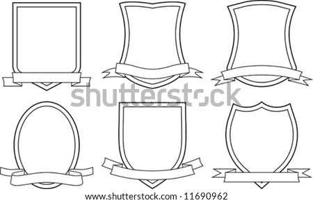 Set of vector coats of arms