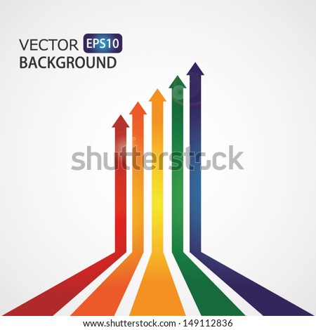 Set of vector color arrows. High quality vector illustration. Eps10.