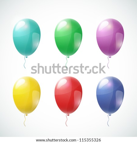 Set of vector color balloons
