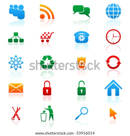 Set of vector colored icons