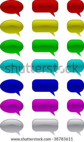 Set of vector comic speech bubbles - stock vector