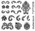 Set of vector decorative ornaments. Easy to edit. Perfect for any ornate designs. - stock vector
