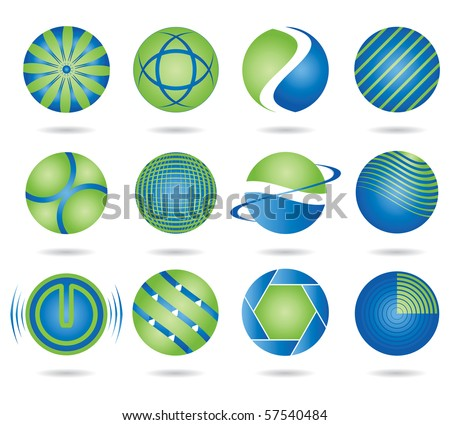 Set of vector design elements