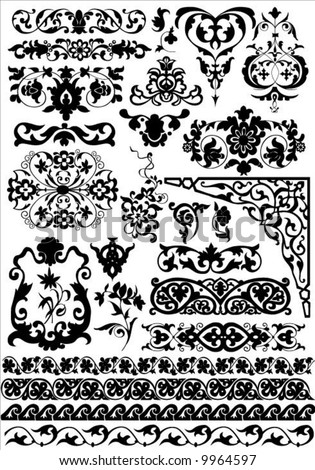 set of vector design elements - stock vector