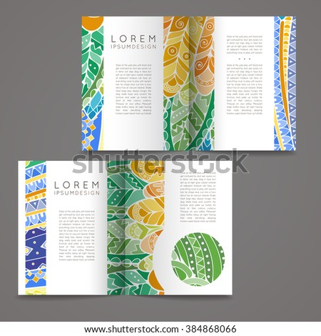 colorful brochure design - music magazine layout flyer invitation design stock vector