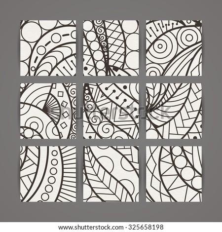 Set Vector Design Templates Brochures Random Stock Photo (Photo ...