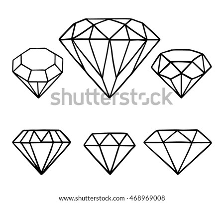 set vector diamonds vector collection hand stock photo photo rh shutterstock com diamond vector png diamond vector backgrounds