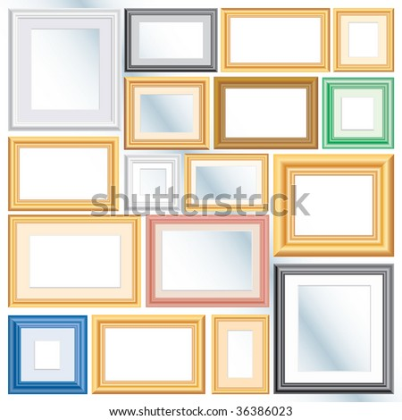 Set Vector Different Frames Background Separate Stock Vector ...