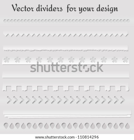 Set of vector dividers for your website and other design. Vector illustration - stock vector