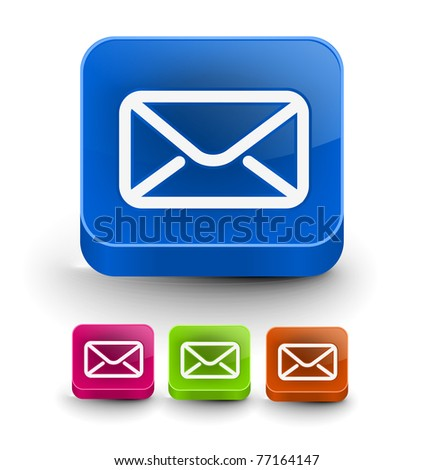 Set of vector email icon web design element. - stock vector