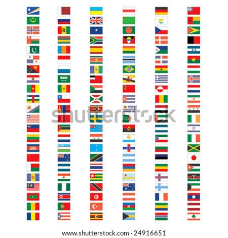 set of vector flags - stock vector