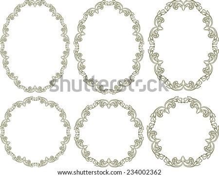 set of vector frames - design elements - stock vector