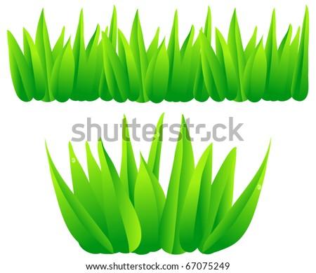 Cartoon Jungle Grass Cartoon jungle grass set of