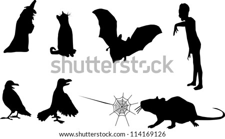 Set of Vector Halloween Design Elements - stock vector