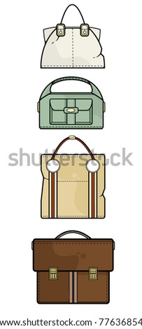 Set of vector handbags