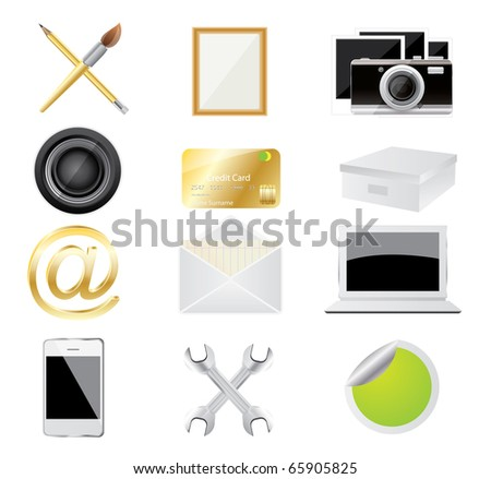 Set of vector icon on a isolated background