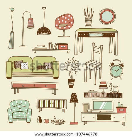 Superb Set Of Vector Icons For Living Room Part 28