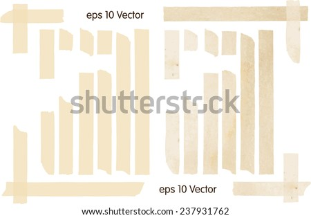 Set of Vector Illustrations of Adhesive Tapes - stock vector