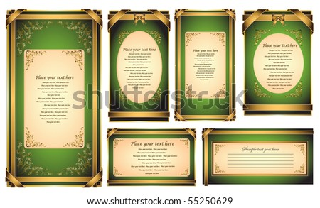 Set of vector invitation card or greeting card