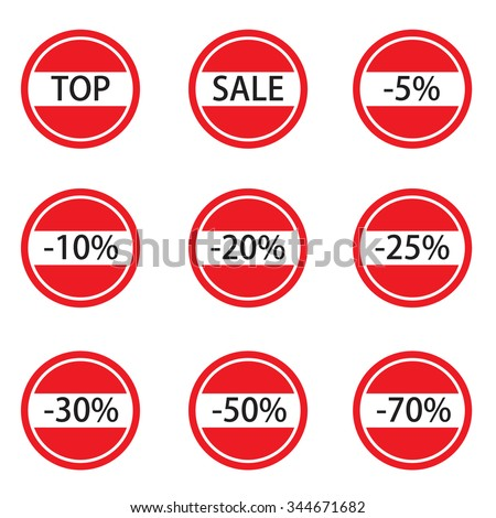 Set of vector labels, banners
